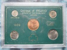 Ireland Irish Eire 1968 last Pre-decimal 5 coin set from Penny to Florin cased