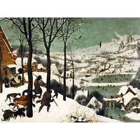 Pieter Bruegel The Elder Hunters In The Snow Winter Large Canvas Art Print