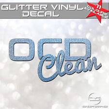 OCD Clean Funny JDM Euro Detailing Valeting Car Van Glitter Vinyl Decal Sticker