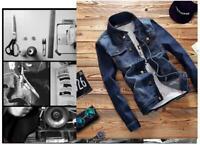 Men's Denim Jean Jacket Casual Coat Western Cowboy Shirt Outwear Fashion Jackets