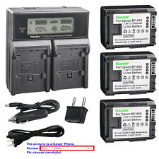 Kastar Battery Dual Fast Charger for Canon BP-808 & Canon VIXIA HF M36 Camcorder