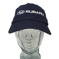 Subaru Automobiles Baseball Cap Cotton Embroidered Blue OSFM Strap Back Hat