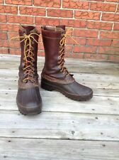Vintage LL Bean Maine Hunting Boots 10 Eyelet Brown Duck Pac Boots Men's Size 8