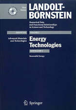 Renewable Energy (Landolt-Börnstein: Numerical Data and Functional Relationships