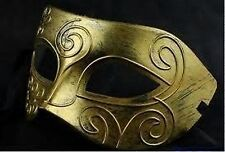 Men's Masquerade Gold Swirl Mask Fancy Dress Venetian Eye Masked Stag Party