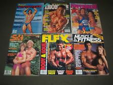 1980S-2000S ASSORTED BODYBUILDING MAGAZINE LOT 10 ISSUES - GREAT COVERS - PB 750