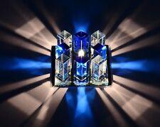 Blue Crystal LED Ceiling Light Pendant Lamp Home Chandelier Lighting Fixture
