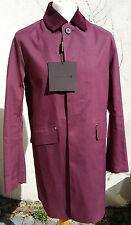 Mackintosh Original Mens impermeable tamaño 42 con Unión de algodón Cuello Cable de color rojo cereza