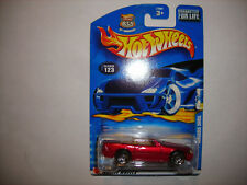 2003 Hot Wheels #123 Red Mercedes 500SL w/PR5 Spoke Wheels RARE FREE SHIP