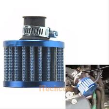 12mm Car Motor Cold Fresh Air Intake Filter Turbo Vent Crankcase Breather Blue