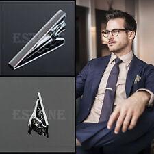 Fashion Gentleman Silver Metal Simple Necktie Tie Clip Bar Clasp Practical Plain