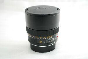 """NEAR MINT""Leica SUMMILUX-R 80mm f/1.4 R-CAM MF Lens  CLA'd  #4295"