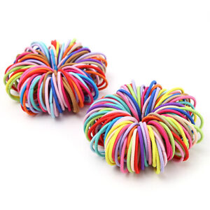 10Pcs Baby Girls Elastic Hair Rubber Bands Ponytail Ties Lovely Hair Rings Ropes