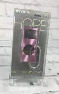Belkin Brushed Remix Pink Metal Case Apple iPod Nano 2nd Gen 2G 4G 8G Breast