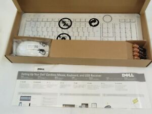 Dell Wireless French Canadian Keyboard & Optical Scroll Mouse Combo X865M WHITE