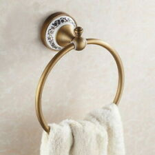 Antique Brass Wall Mounted Towel Ring Holder Rail Towel Holder Bath Accessory