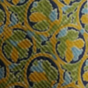 Gold Green Floral PIERRE CARDIN Silk Tie