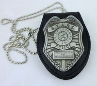 RESIDENT EVIL STARS RACCOON DEP POLICE BADGE MONEY CLIP BADGE HOLDER CASE
