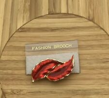 Red Leaf Fashion Brooch-New Old Stock