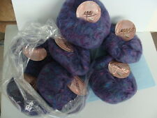 NEW ~ 7 Balls LUGANO MOHAIR LUXURY YARN by Hayfield England ~ Lilac/Multi-Color