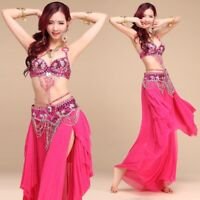 Belly Dance Costume Indian Outfit Bollywood Set Bra Belt Skirt Carnival Dress AU