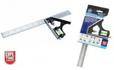 """300MM (12"""") HEAVY DUTY COMBINATION SQUARE ENGINEERS DEPTH GAUGE TRI RULE NEW"""
