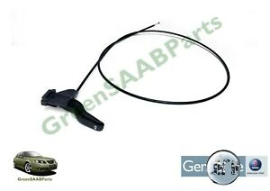 SAAB 9-3 (03>12) Bonnet Release Cable Rear Section 12786265, New SAAB Part