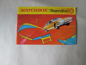 Matchbox Superfast SF-1-5 Speed Set Catalog Brochure Directions 8-Page Fold-out