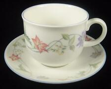 Royal Doulton 'Summer Carnival' Mauve & Peach Flowers Cup & Saucer (2 Available)