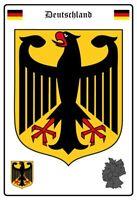 Alemania Escudo Letrero de Metal Arqueado Tin Sign 20 X 30CM
