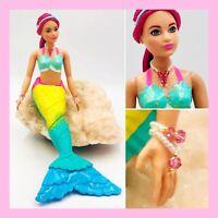 Dreamtopia Pink Hair Curvy Rainbow Cove Mermaid Barbie in Swarovski Crystals