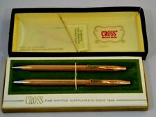 Vintage Cross 12Kt Gold Filled Pen/Pencil Set GENERAL ELECTRIC Gold #6601