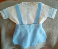 Vintage infant baby boy 2 pc short 12mo Huntington mills lightweight sweater set