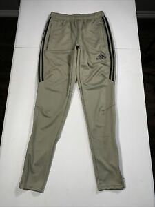 "Men's Adidas Tiro Climacool Tapered Socccer Pants Size S Beige 30"" Inseam"