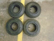 SET OF FOUR UNUSED OLD SHOP STOCK MOBILITY SCOOTER TYRES AND TUBES. 250-4.