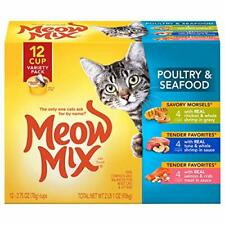 New listing Meow Mix Tender Favorites Wet Cat Food 2.75 Ounce Cups 12 Oz.