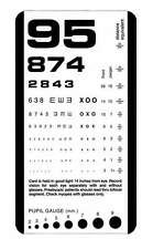 Snellen Plastic Eye Test Chart Matte NEW Pocket Size !!