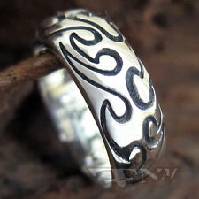 .925 STERLING SILVER  TATTOO DESIGNS RING SZ 10