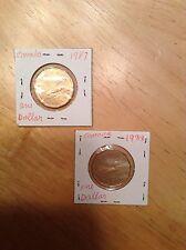 1987 & 1988 $1 CANADA Coins