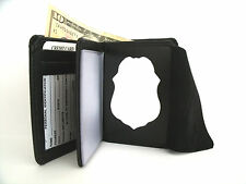 Shield & ID Wallet US Navy Security Forces Badge Cut Out Leather