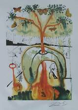 Salvador Dali Signed L/E Lithograph MAD TEA PARTY from ALICE IN WONDERLAND SUITE