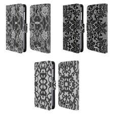 Fundas y carcasas Head Case Designs color principal negro de piel para teléfonos móviles y PDAs