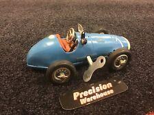 Vintage Schuco Grand Prix Racer 1070 Blue # 1 US Zone Germany Wind Up Car Tin