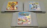 Nintendo 64 N64 Game Lot - Cruisin World, Excitebike 64 and Blast - Great Cond!