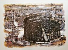MAX GUNTHER Original Mid-Century PENCIL SIGNED LITHOGRAPH Colosseum ROME 21/80