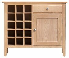 Light Oak Small Wine Cabinet / Modern Sideboard with Wine Storage / C21