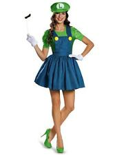 Fashion Womens Adult Super Mario Halloween Fancy Dress Party Costumes Outfits