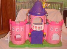 Fisher Price Little People Pink Purple Castle Kingdom Dollhouse W/ Sound