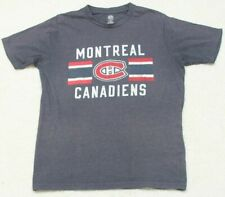 NHL Montreal Canadians Gray Graphic Tee T-Shirt Top Medium Hockey Short Sleeve