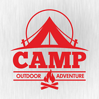 CAMP Outdoor Adventure Camping Camper Rot Red Auto Vinyl Decal Sticker Aufkleber